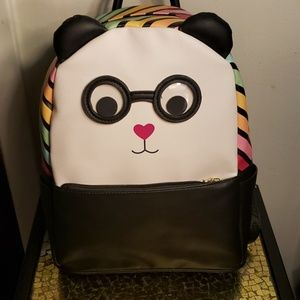 Betsey Johnson Googly Eyed Panda Backpack